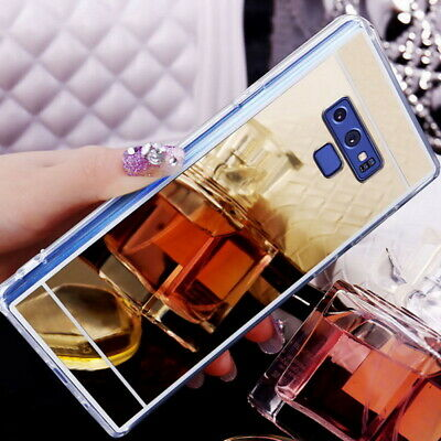 For Samsung Galaxy Note 9/8 S8 S9 S10 Luxury Slim Mirror Soft Rubber Case Cover
