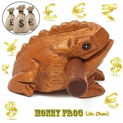 Special Wooden Animal Money Frog Musical Instrument Toy Halloween Gift