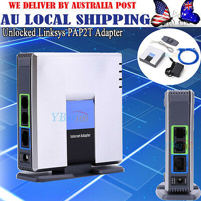 UNLOCKED CISCO LINKSYS PAP2T PAP2T-NA SIP VOIP Phone Adapter 2 Port Gateway AU