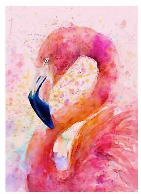 Pink Flamingo abstract /100% cotton wall home Decor high quality Canvas