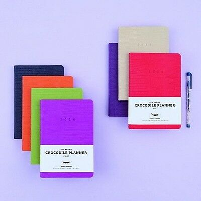 [2018 ARDIUM CROCODILE PLANNER] Dated Daily Monthly Yearly Note Calendar Diary