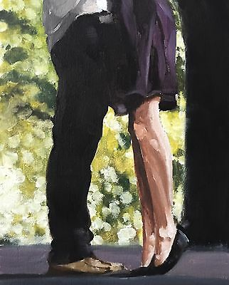 Kissing Legs Art PRINT signed art print from oil painting by James Coates
