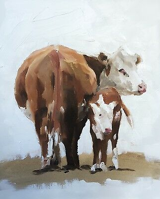 Cows Art PRINT signed art print from oil painting by James Coates