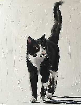 Cat Art PRINT signed art print from oil painting by James Coates