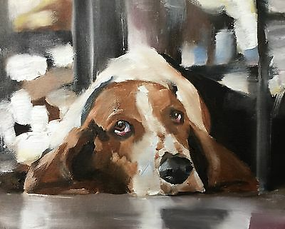 Basset Hound Dog Art PRINT signed art print from oil painting by James Coates