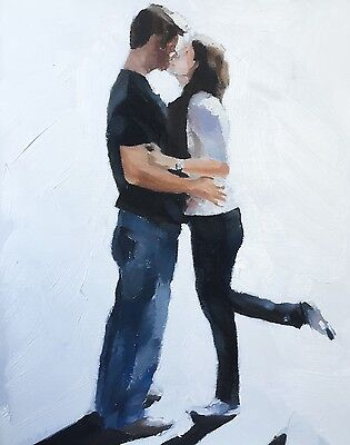 Kissing Art PRINT signed art print from oil painting by James Coates