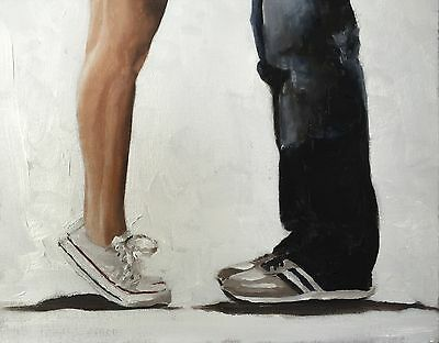 Kissing Feet Art PRINT signed art print from oil painting by James Coates