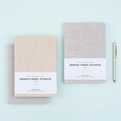[2018 ARDIUM FABRIC PLANNER] Dated Daily Monthly Yearly Note Calendar Diary