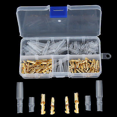 Motorcycle 120X/Set Brass Bullet 3.5mm Gold Connector Terminal Male&Female Cover