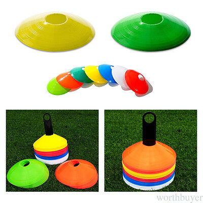 NEW Football Self Training Equipment Obstacle Sign Disc Flying Saucer Plate BG
