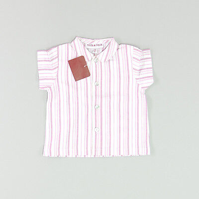 Camisa color Rosa marca Neck & Neck 6 Meses