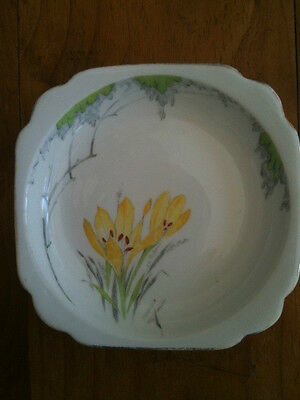 "STANDARD CHINA MADE IN ENGLAND YELLOW FLORAL DISH 5 3/4"" = 145mm DIAMETER"
