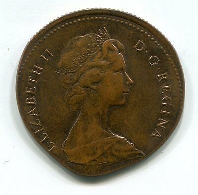 25c CANADA 1979 STRUCK ON FOREIGN (LIKELY BARBADOS CENT)  PLANCHET 3.13 GRAMS