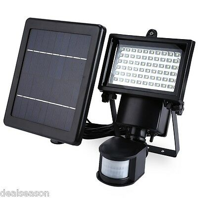 SL - 60 LED Super Bright Waterproof Solar Powered PIR Motion Detector Door Wall