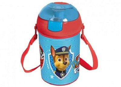 Paw Patrol 500 ml Pop Up Canteen Water Bottle Flask With Neck Cord