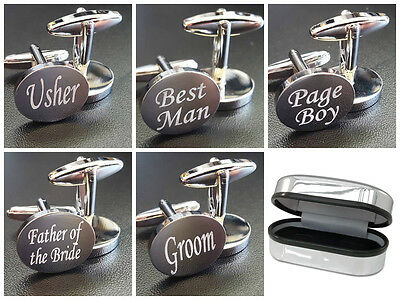 Silver Wedding Cufflinks Cuff Links Personalised Gift Groom Best Man usher F6LUX