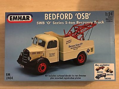 1/24 BEDFORD OSB SWB O SERIES 5 Ton RECOVERY TOW TRUCK 1:24 Brand New EMHAR Kit
