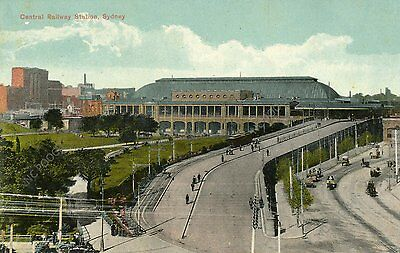 vintage postcard Central Railway Station Sydney Australia early 1900s