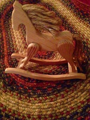 Vintage wooden rocking horse. FREE shipping in the USA!