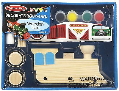 Melissa & Doug Decorate Your Own Wooden Train