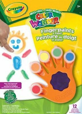Crayola Colour Wonder Fingerpaints/Paper