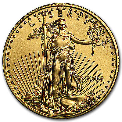 2008 1/10 oz Gold American Eagle BU - SKU #30110