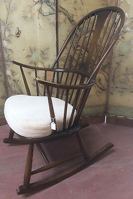 Lovely Ercol Upholstered Rocking Chair