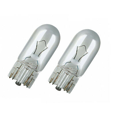 2X 501 Capless Wedge Sidelight Bulbs T10 W5W