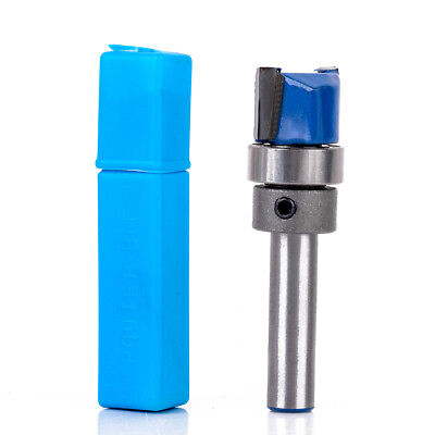 "1/4"" Shank 1/2'' x 2/5'' x 1-3/4'' Alloy Template Flush Trim Cutter Router Bit"