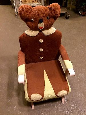 Astonishing Vintage Childs Teddy Bear Spring Rocker Chair Kids Pabps2019 Chair Design Images Pabps2019Com