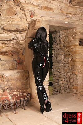 Lack Overall Catsuit Full Body Lackoverall Tri-Zipp Leder-wetlook 1007-sr L 46
