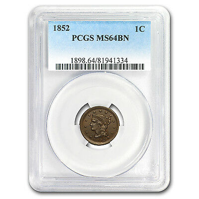 1852 Large Cent MS-64 PCGS (Brown) - SKU#151091