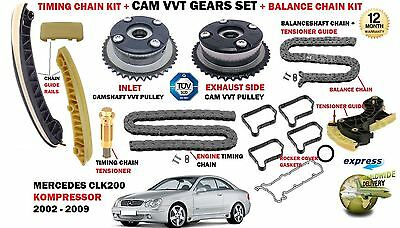 For Mercedes Clk200 C209 A209 2002-2009 Timing Chain Kit + Camshaft Vvt Gears