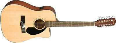 Fender CD-60SCE-12 Dreadnought Electro Acoustic, Natural