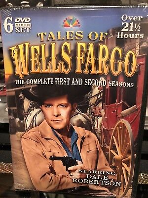 Tales of Wells Fargo: First and Second Seasons (DVD) Dale Robertson, BRAND NEW!