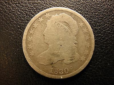 1830 capped bust dime, large 10 C.