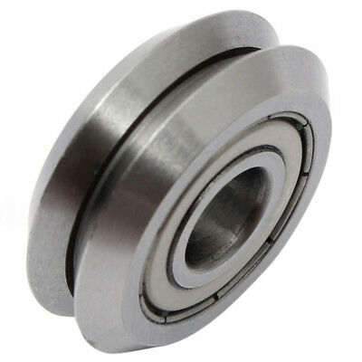 W1 Deep V Groove W-rail Guide Line Track Pulley Rollers Ball Bearings Steel K1W1