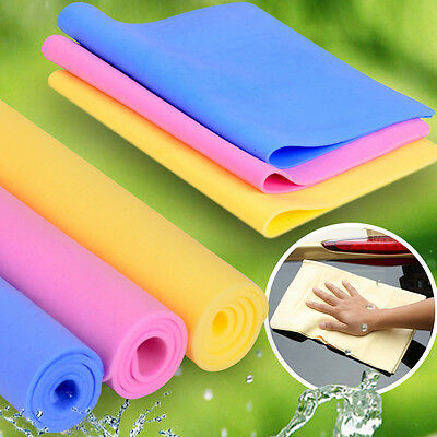Magic Car Washing Wipe Towel Cloth Absorber Synthetic Chamois Leather Random New