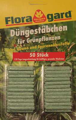 Fertilizer sticks for green plants - 50 pieces (with guano and trace elements)