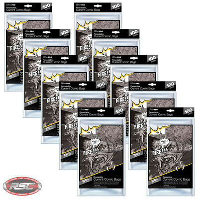 1000 - ULTRA PRO CURRENT / MODERN 2-Mil Resealable Comic Bags - New Packaging!