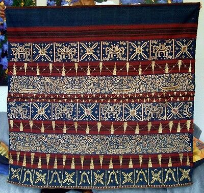 Early 20th century Tapis Lampung, Sumatra, Indonesia: Woman's Ceremonial Skirt