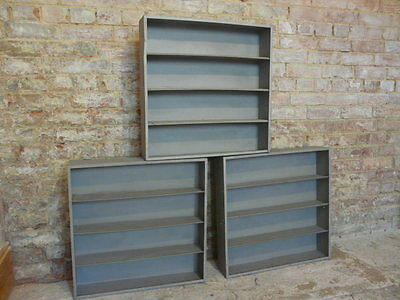 vintage metal industrial pigeon holes stripped polished retail fittings retro