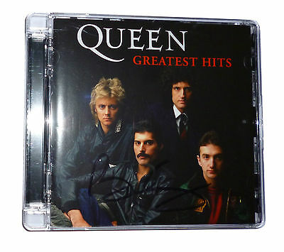 Brian May Signed Autograph Queen Greatest Hits CD Rare 2011 Re-Master