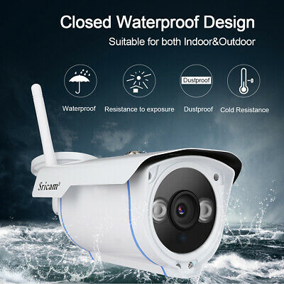 Sricam Wireless WiFi 1080P HD IP Network Camera CCTV Security IR Outdoor Webcam