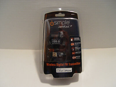 iSimple JamKast iP ISFM71 Wireless Digital FM/RDS Transmitter iPod  USB Charger