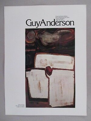 Guy Anderson Art Gallery Exhibit PRINT AD - 1981