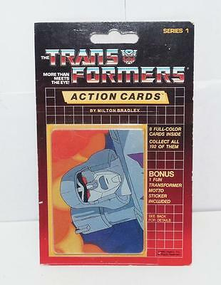 Megatron Sealed Pack Card #136 Transformers Trading Action Cards 1985 G1