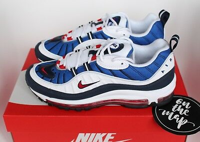 NIKE AIR MAX 98 Gundam QS OG Blue White Red 640744 100 UK 8