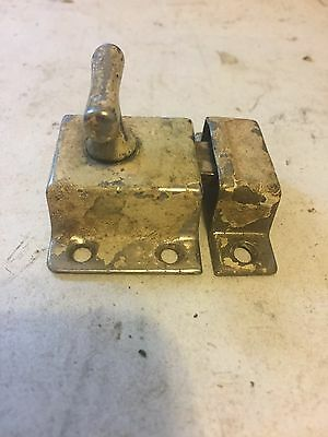 Old Shabby Chippy Chrome Brass Primitive Cabinet Cupboard Door Latch Lock Catch