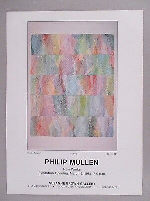 Philip Mullen Art Gallery Exhibit PRINT AD - 1981